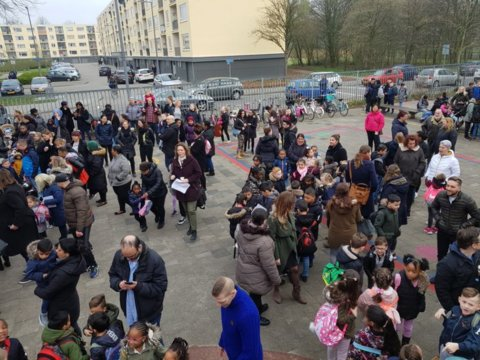 Ook veel ouders waren aanwezig