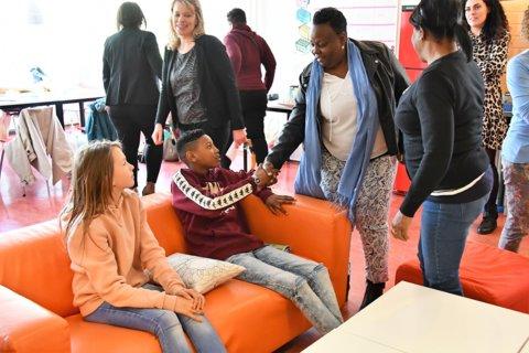 Een ontmoeting met leerlingen van de Johannes Martinus school
