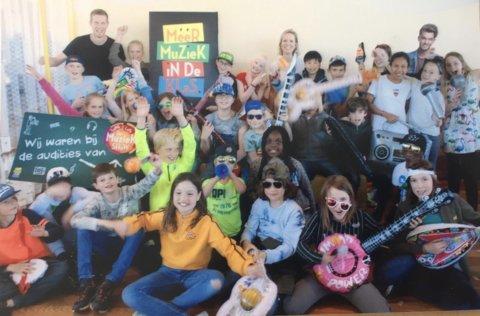 De enthousiaste kinderen van groep 7B van de Fatimaschool