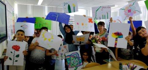 De ontwerpen van de leerlingen