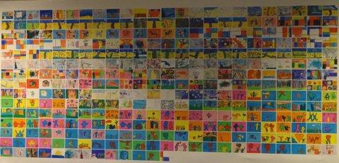 Vrijdagmiddag konden de ouders de werkstukken in een tentoonstelling bewonderen