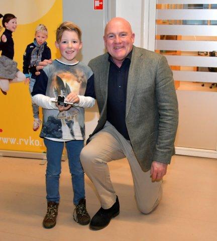 Met Andre Kuipers op de foto