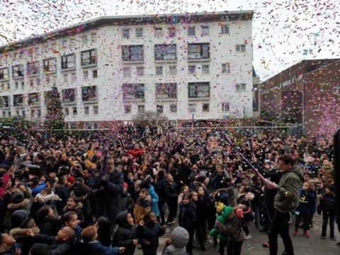 Feest op het schoolplein