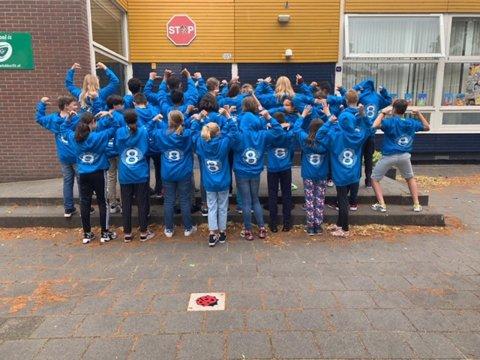 Achtstegroepers van basisschool de Horizon