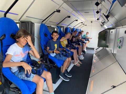 Aan boord van de SpaceBuzz